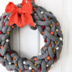 DIY Fall Wreath with Yarn