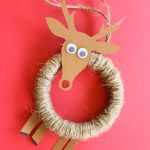DIY Rudolph Ornament from an Embroidery Hoop